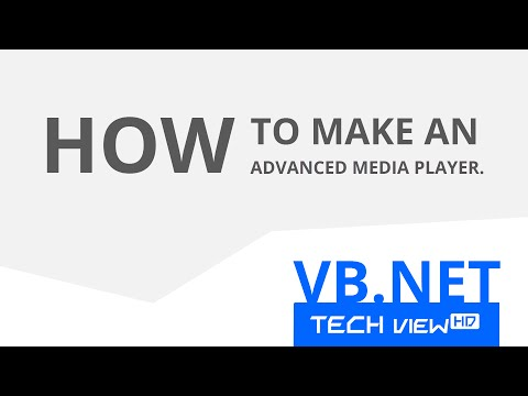 How to make an Advanced Media Player in VB.NET (without Windows Media Player component)