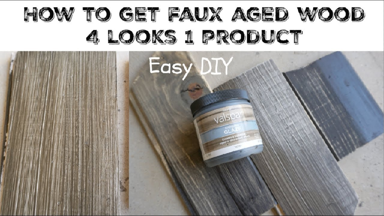 Diy Weathered Aged Wood Using Glaze Momma From Scratch