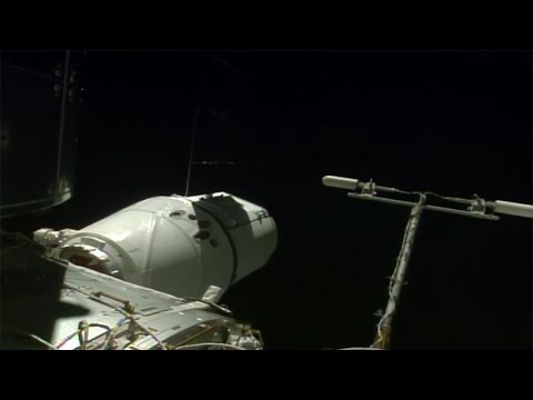 SpaceX Dragon CRS-10 berthing to the ISS