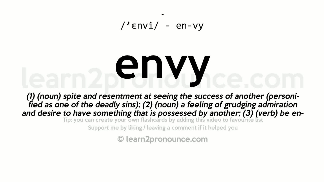 Beautiful Envy Pronunciation And Definition