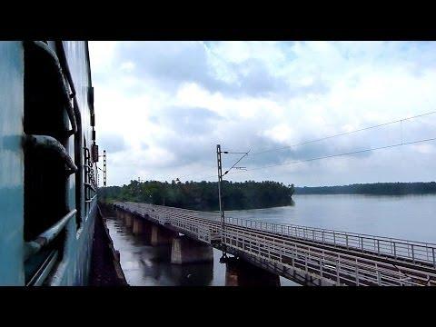 PERUMON RAILWAY BRIDGE ASHTAMUDI LAKE KERALA