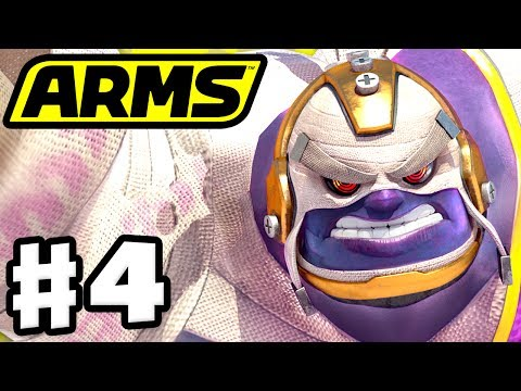 ARMS - Gameplay Walkthrough Part 4 - Master Mummy Party Matches! (Nintendo Switch)