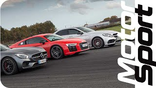 Drag Race :  R8 V10 Plus / AMG GT S / C 63 S AMG