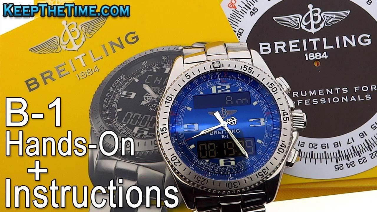 breilting b 1 setting instruction manual hands on youtube rh youtube com instruction manual breitling b1 Breitling Aerospace Breitling B1 Or