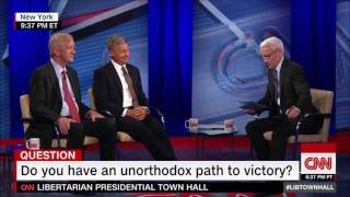 Gary Johnson's answer on legalization of marijuana Town Hall number 2  2016