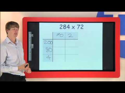 Long Multiplication using the Grid (or Box) Method - YouTube
