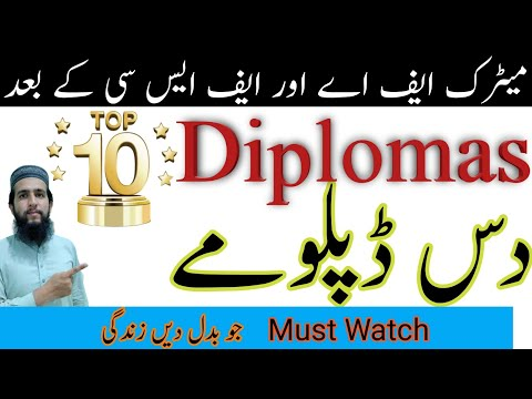 Top 10 Diplomas   Diplomas for Students   Diplomas after Matric and Inter   Student Point AQ
