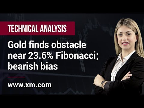 Technical Analysis: 06/05/2019 - Gold finds obstacle near 23.6% Fibonacci; bearish bias