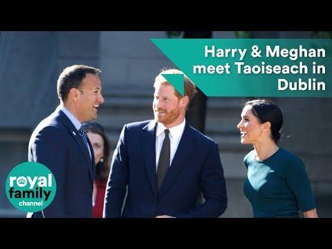 Prince Harry and Meghan, Duchess of Sussex meet Taoiseach in Dublin