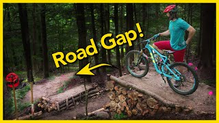 Building A Road Gap In Our Backyard Bike Park!