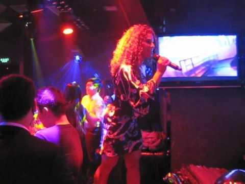 Stephanie performing live at the Kirin Club in Chongqing, China