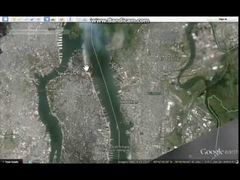 9/11 caught from google earth satellite