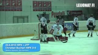 Nuorten SM-liiga 23.9.2010: HIFK-JYP -ottelun ratkaisumaalit