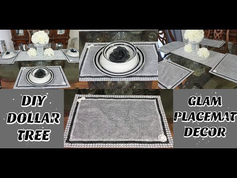 DIY DOLLAR TREE GLAM PLACEMATS  DIY EASY & INEXPENSIVE GLAM TABLE HOME DECOR IDEAS