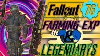 Fallout 76 Farming EXP and Legendary weapons in fallout 76 THE BEST CURRENT METHOD !