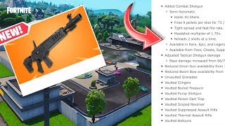 Season 9 PATCH NOTES! Fortnite Battle Pass and New TILTED TOWERS! New Shotgun