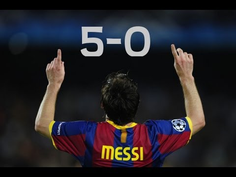 lionel messi vs real madrid h barca 5 0 madrid 11 29 10 by