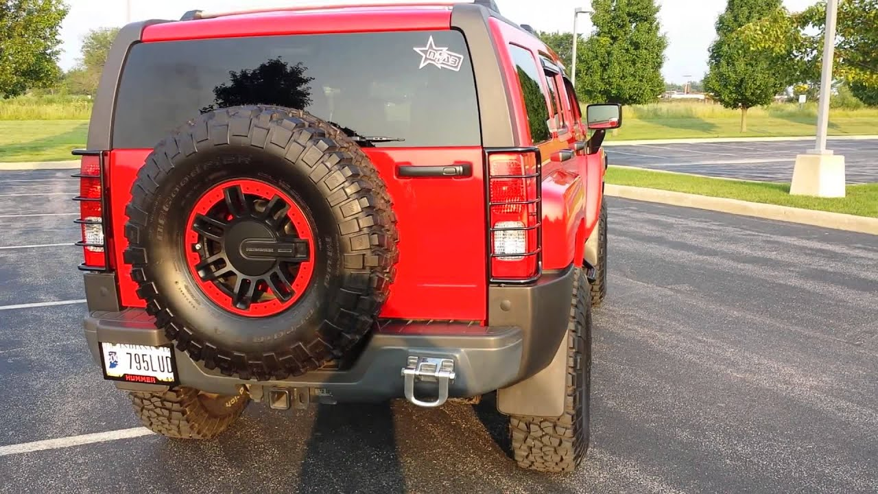 Updated Hummer H3 35 inch tires plasti dipped
