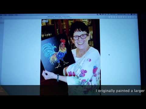 how-to-dot-paint-with-kristin-uhrig-#60---dotted-rooster