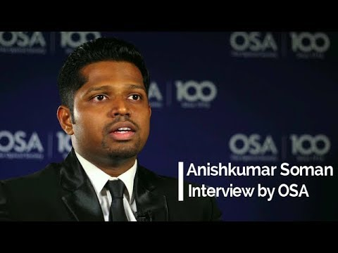 Interview by Optical Society of America (OSA) | Anishkumar Soman | OSA Stories