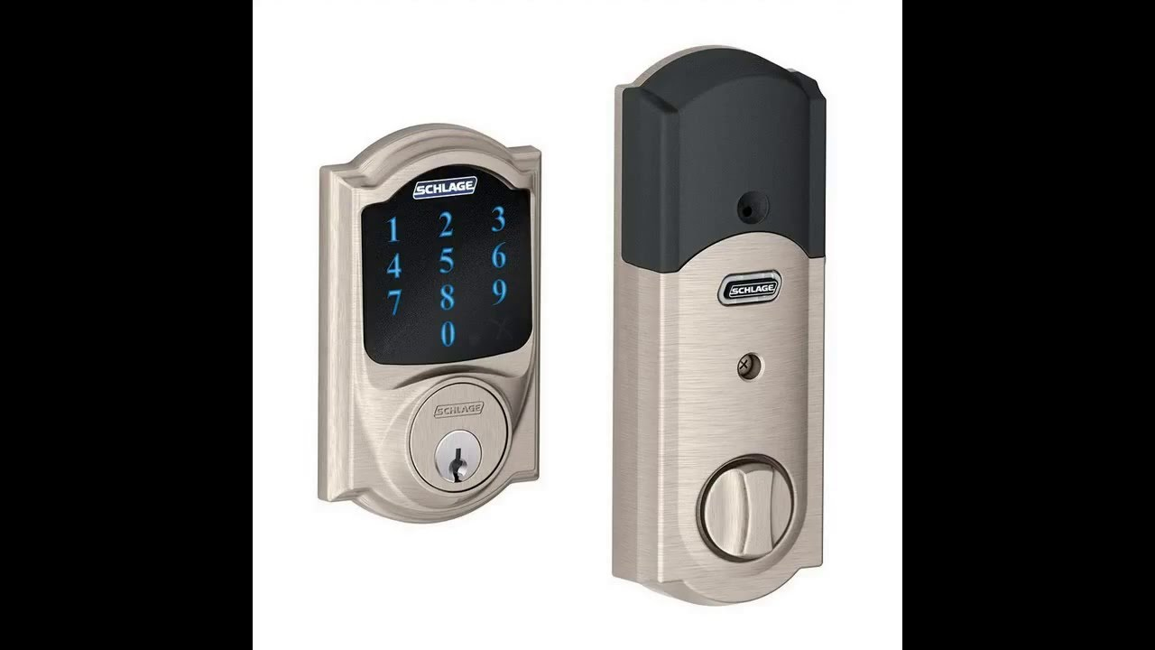 Schlage Camelot Touchscreen Deadbolt With Z Wave