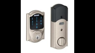 Schlage Camelot Touchscreen Deadbolt with Z Wave Technology and Built In Alarm, Satin
