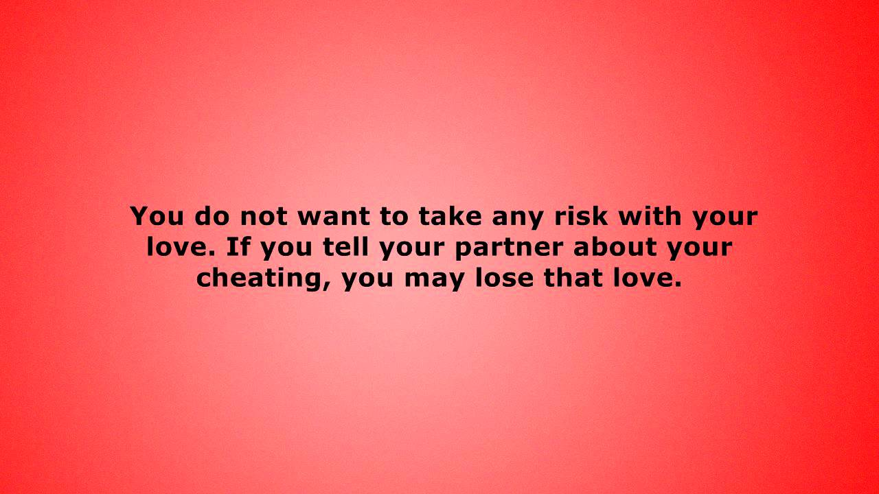 How to cope with cheating on someone