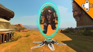 DONT GO THROUGH THAT TELEPORTER! Overwatch Funny & Epic Moments