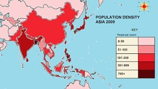 Why do some places have a greater population density than others?