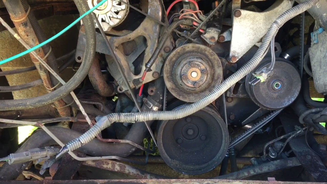 1991 BOUNDER by FLEETWOOD ENGINE REMOVAL 454 BBC CHEVY P30p35 engine pull PART 2 UH OH TROUBLE