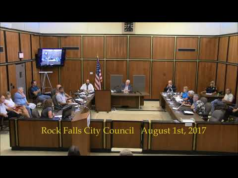 08 01 2017 Rock Falls, Illinois City Council Meeting