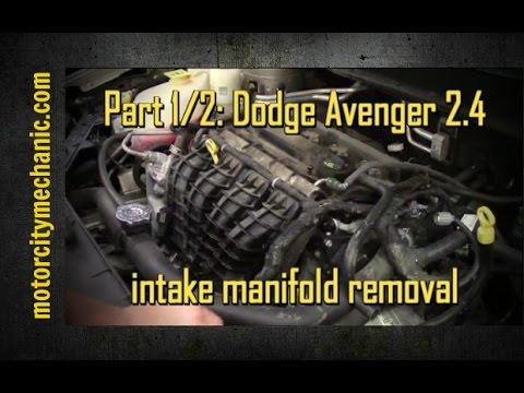 Part 1  2  2009 Dodge Avenger 2 4 Liter Intake Manifold