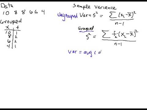 Calculating sample variance - YouTube