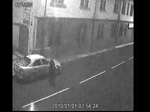 methil drunk kicks my car. who knows his i.d. 1/1/2010 2.54am