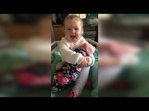 Sharon Green - 3 Year Old Meets  Her Baby Sister And Promises She Will....