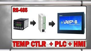 Coneccion RS 485 a un Temperature Controller  PLC y HMI
