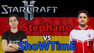 ALLES IN DEUTSCH, RUNDE 2   Stephano (Z) vs ShoWTimE (P)   Starcraft 2: Kommentiert!