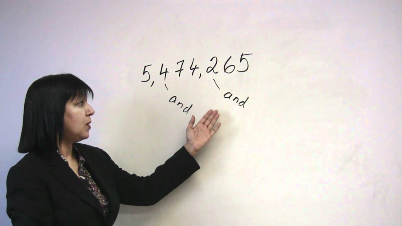 Speaking English - Saying Numbers