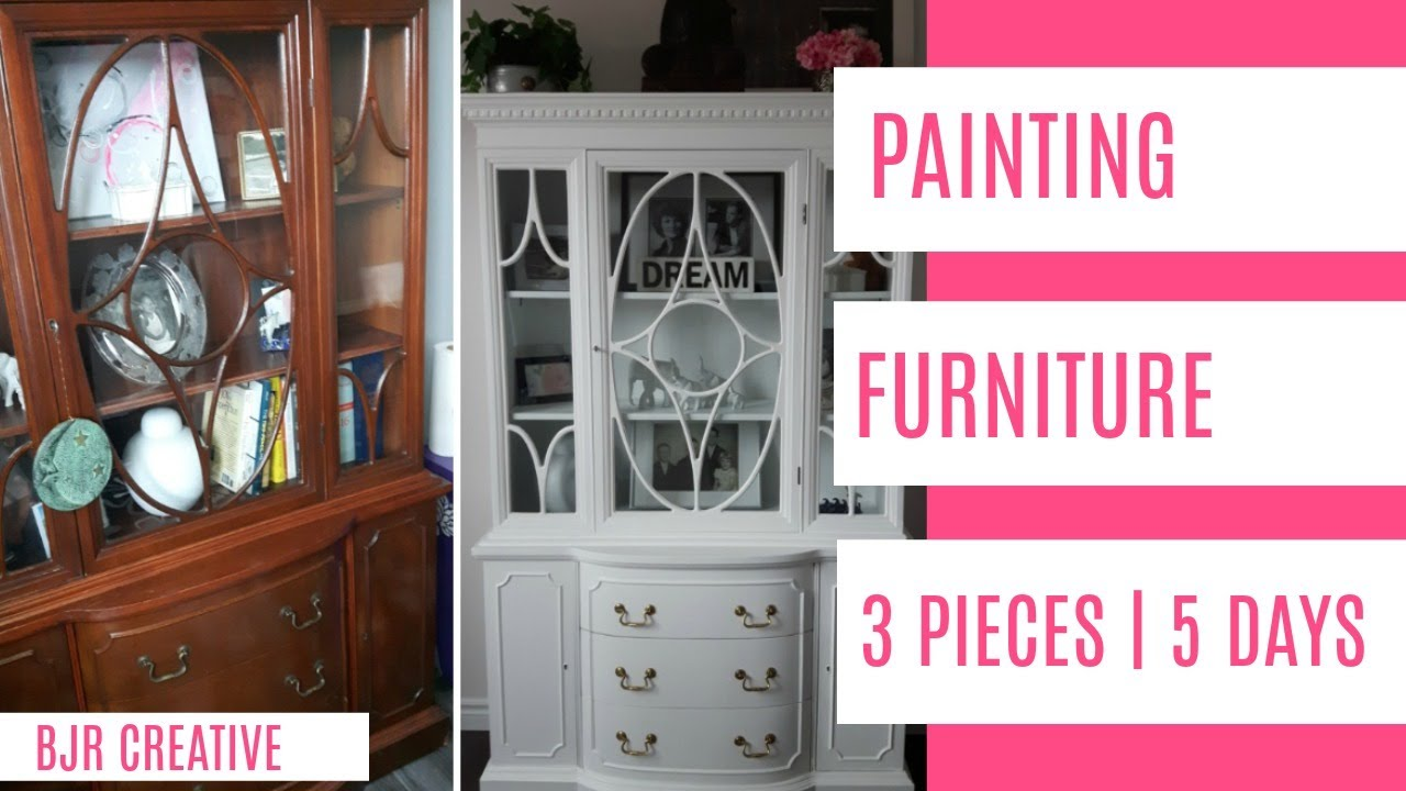 Diy Part 1 Painted Furniture Chalk Paint Latex Paint How To Office Remodel