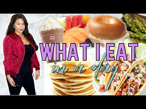 WHAT I EAT IN A DAY! START TO GETTING HEALTHY | NOT VEGAN & NOT HEALTHY BUT TRYING