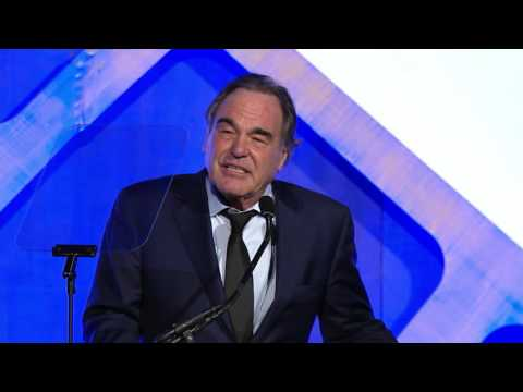 Oliver Stone accepting a Gotham Tribute at the 2016 IFP Gotham Awards