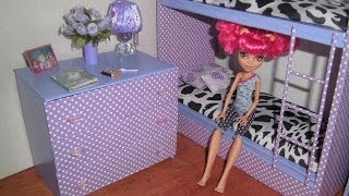 How To Make A 3-drawer Dresser For Dolls Monster High, Barbie, Etc