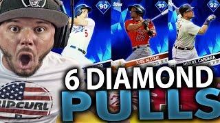 SIX DIAMOND PULLS OMG!! MLB THE SHOW 17 DIAMOND DYNASTY