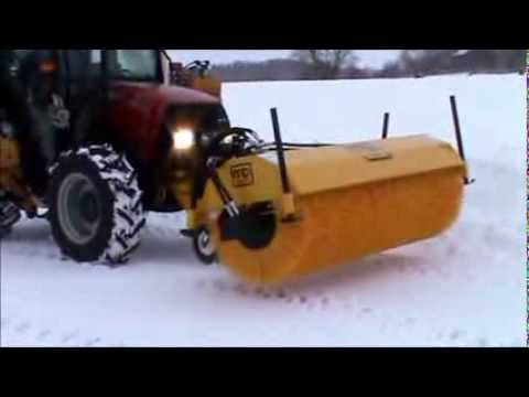 M B Attachments Hydraulic Tractor Sweeper Youtube