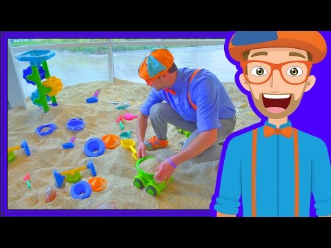 Blippi Plays at the Children's Museum | Learn Colors for Toddlers - Видео онлайн