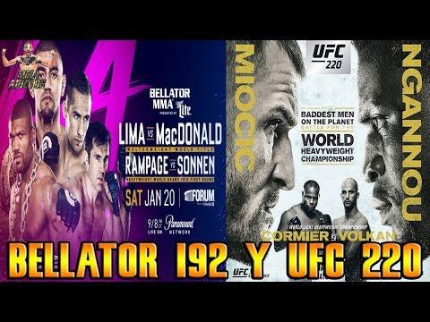 Opiniones y predicciones de UFC 220 y Bellator 192 | MMA ADICT0S