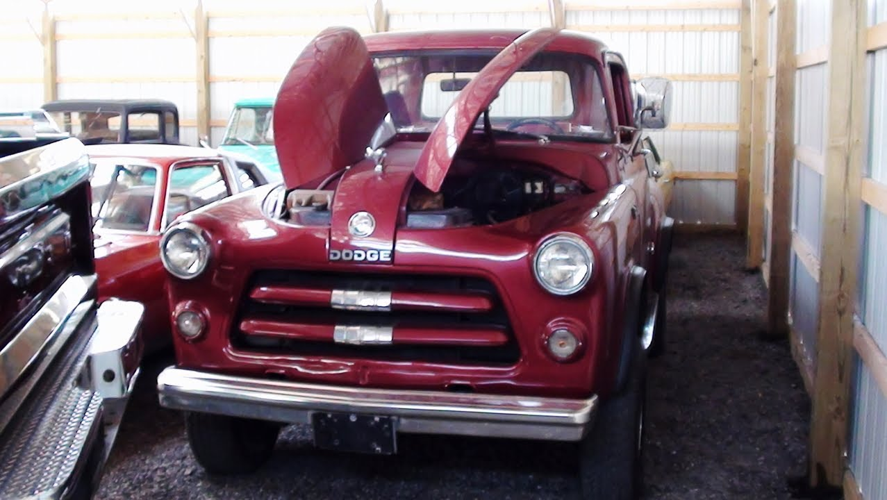 1956 Dodge D100 4x4 Pickup 318 V8 - YouTube