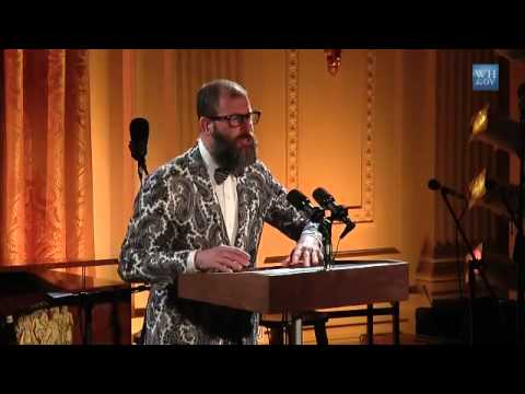Kenneth Goldsmith reads poetry at White House Poetry Night
