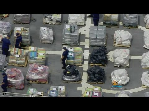 Coast Guard Offloads 12 Tons Of Cocaine At Port Everglades