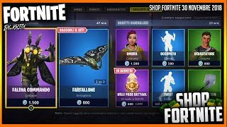 SHOP FORTNITE 30/11/2018 - NEW SKIN FALENA COMMANDO, LAMPADA & FARFALLONE Ita